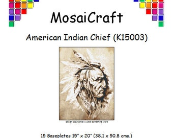 MosaiCraft Pixel Craft Mosaic Art Kit 'American Indian Chief' (Like  Mini Mosaic andPaint by Numbers)