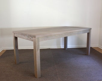 Gray Parsons Dining Table 72x30 Reclaimed Wood