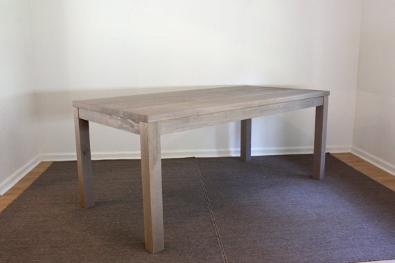 Gray Parsons Dining Table 72x30 Reclaimed Wood By NorthFieldStore