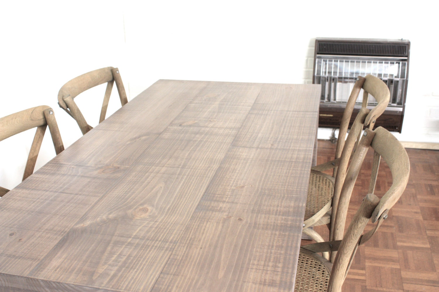 60x27 Salvaged Weathered Wood Finish Parsons Dining By LMFurniture