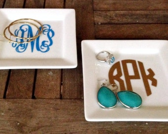 Medium Monogrammed Jewelry/Trinket Tray