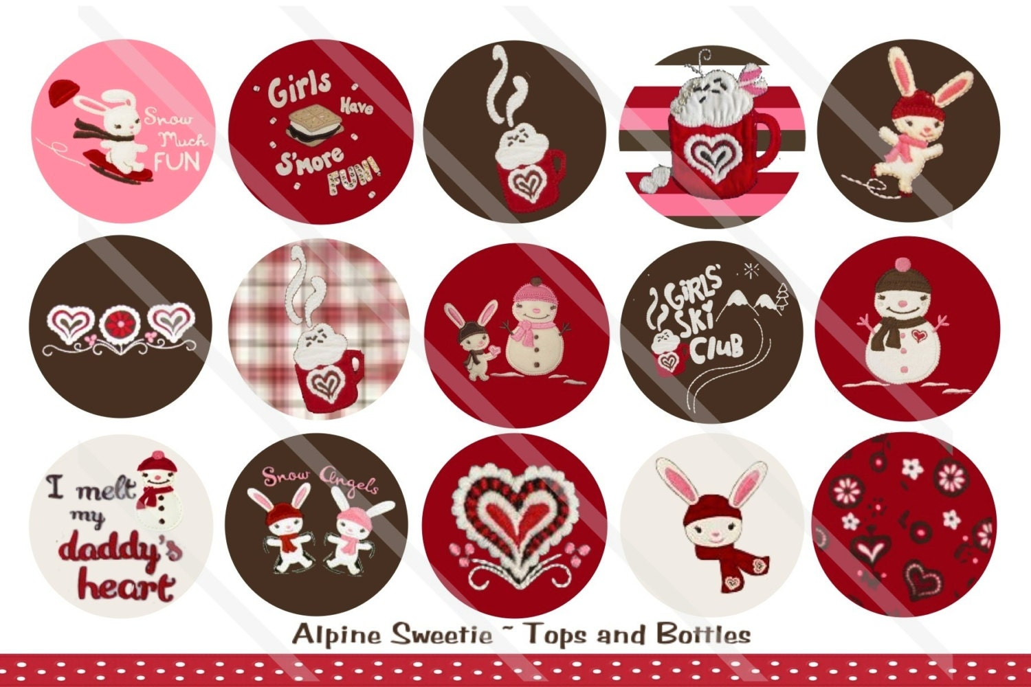 ALPINE SWEETIE M2Mg 1 Inch Circles Collage Sheet for ...