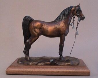 Arabian Horse Sculpture, Horse Art, Horse Sculpture, Arabian Horse Art, Arabian Horse Bronze Sculpture
