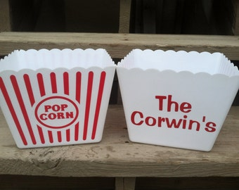Personalized Popcorn Bucket / Tubs