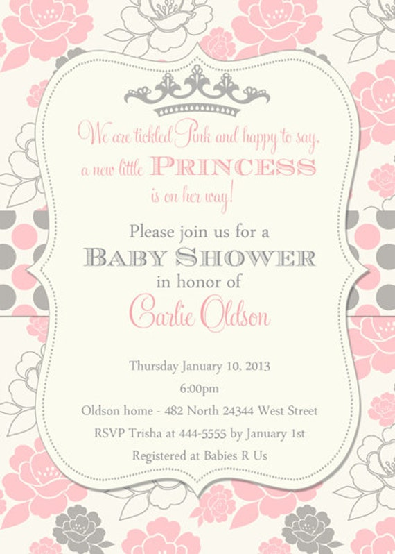 Free Printable Princess Baby Shower Invitations correctly perfect ideas for your invitation layout