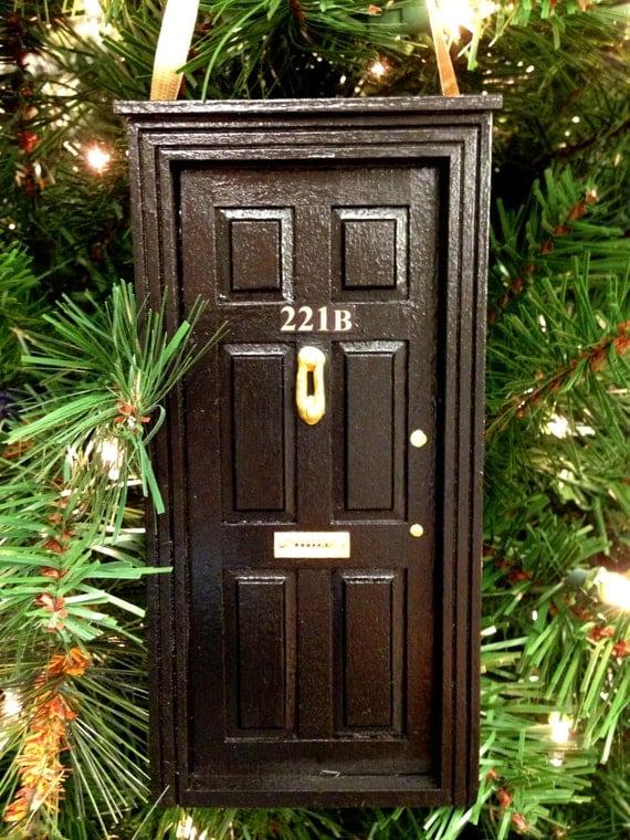 BBC Sherlock 221B Door Wooden Ornament