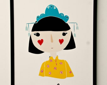 Print- Petite Chinoise- or - Little Chinese-