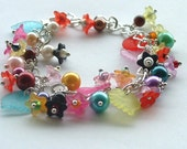 beaded bracelet/chunky beaded bracelet gift for her/ FREE SHIPPING
