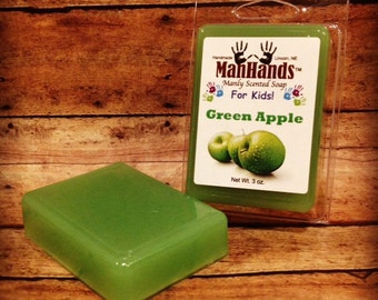 Green Apple Scented Soap 3 oz. Bar