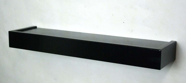 24 Floating Shelf Black Wall Shelf Hidden By