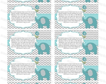 Bring a book insert card baby shower bring a book instead of a card elephant baby shower invitation insert boy baby shower (57t)