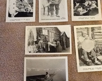 6 Vintage ALaksa Inuit Eskimo Photos