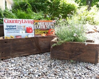 Reclaimed Barn Wood Table Top Planter