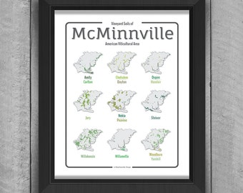 Oregon Wine Map: McMinnville Soil Map