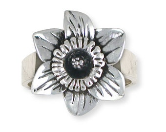 Solid Sterling Silver Daffodil Ring Jewelry  DAF1-R