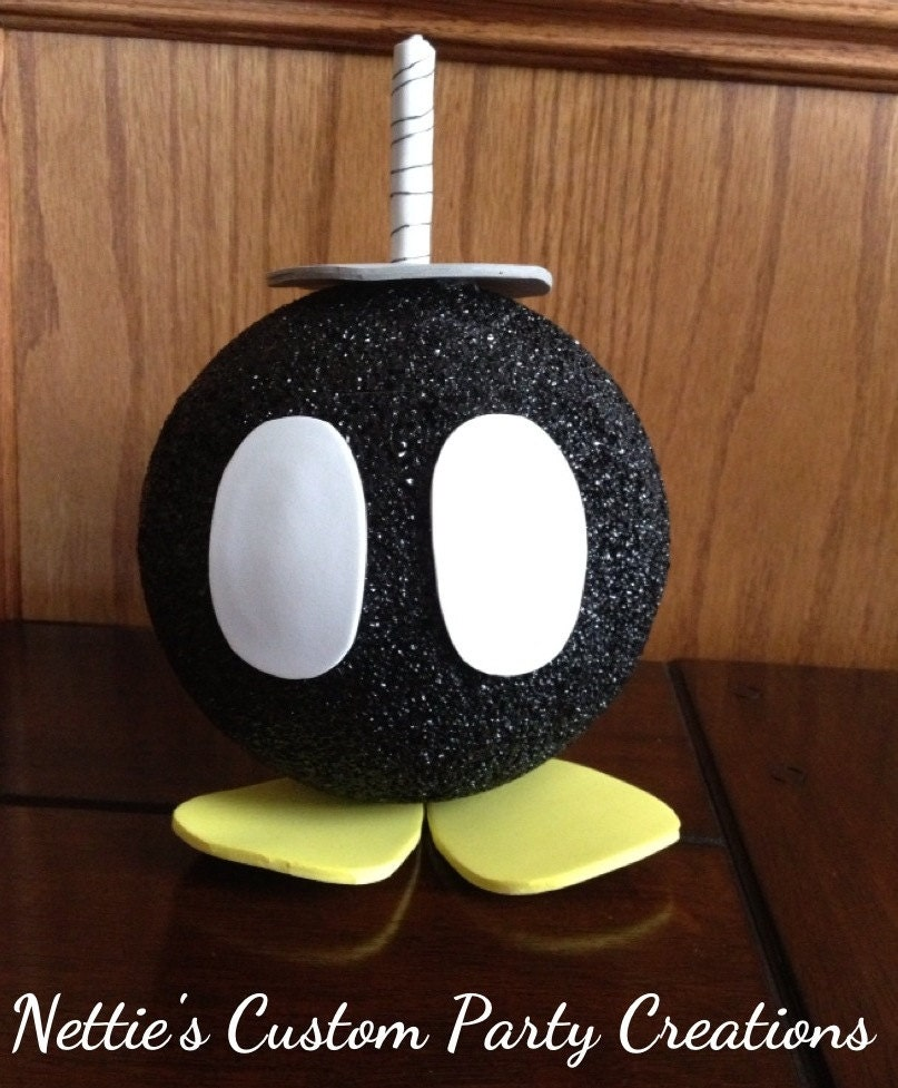 Super mario bros inspired hot bob bomb party decoration or for Mario decorations