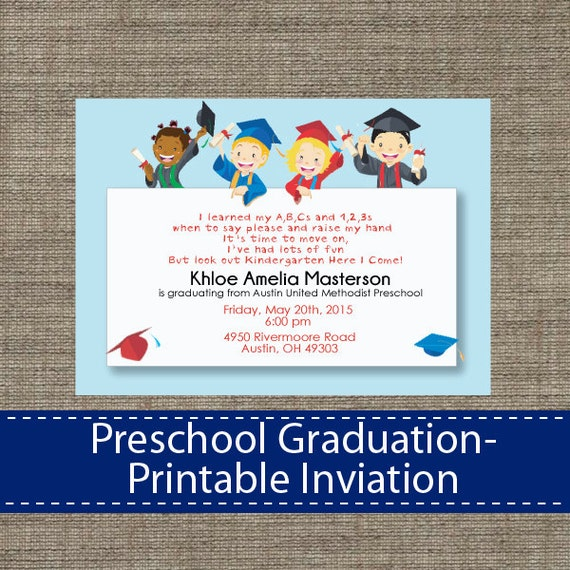 free printable preschool graduation invitations preschool graduation invitation diy printable 570