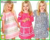 Peasant Dress Pattern for Girls + Free Mother-Daughter Apron Pattern, Juliet Sewing Pattern, pdf patterns, Handmade, Toddler Dress Patterns
