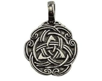 Mystic Triquetra Pendant with Celtic Knotwork