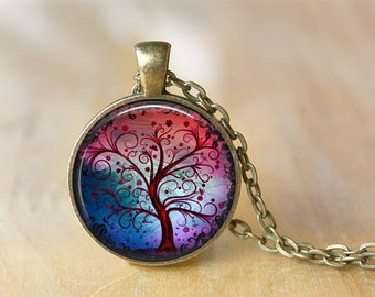 TREE OF LIFE trees picture pendant