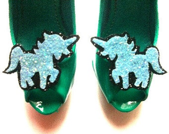 10% off with the code BDAY10 Glittered Unicorn Shoe Clips - Any colour