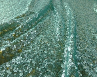 Mint colored sequins (dull finish)
