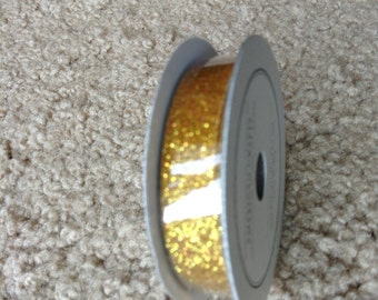 New Glitter Ribbon for scrapbooking by American Crafts-- Sparkling Gold