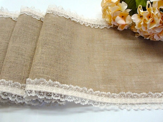 chemin de table toile de jute table runner mariage avec pays. Black Bedroom Furniture Sets. Home Design Ideas