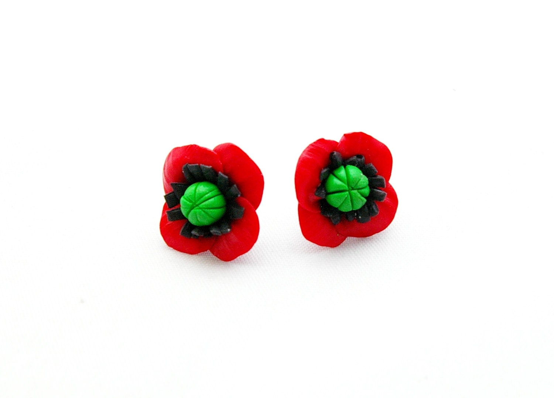 stud earrings poppy post earrings tiny by