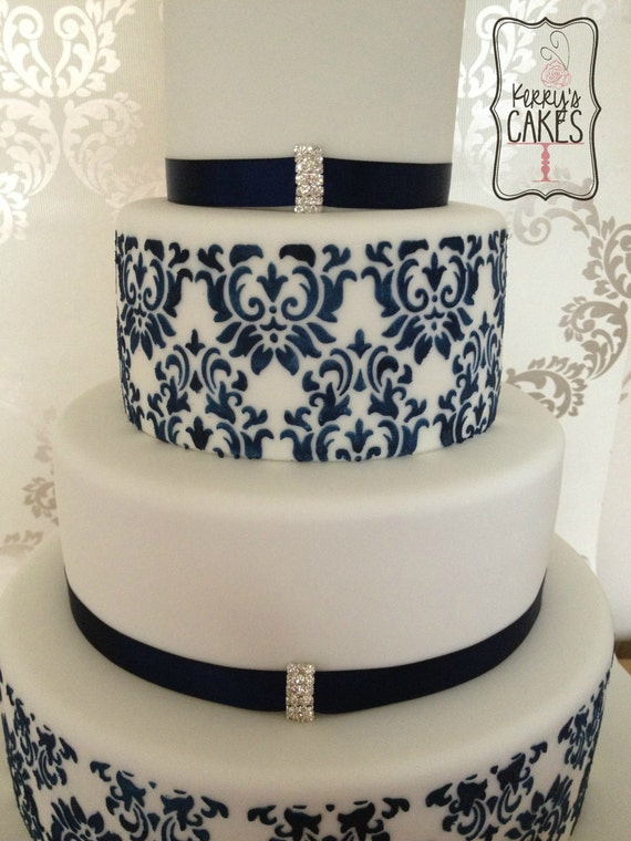 wedding cake stencils decorating wedding damask cake delux stencils 7 pieces cake 25702