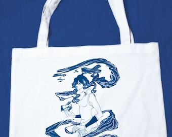 hand screened Legend of Korra, Korra Tote bag