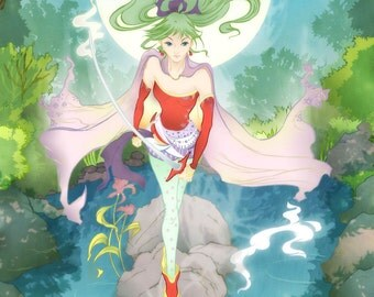 Terra or Tina Branford from Final Fantasy VI Postcard