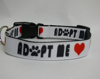Adopt Me Rescue Dog Collar - Rescue - Shelter - Awareness - Foster -