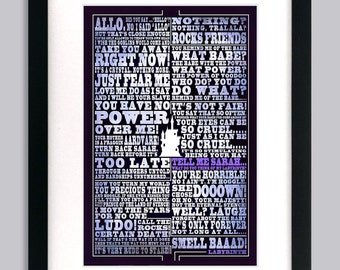 Labyrinth Quote Art Print
