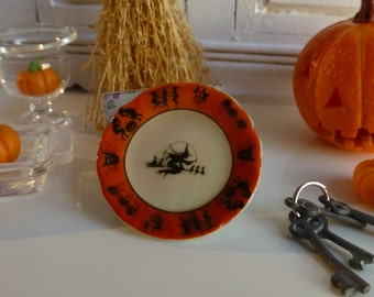 Vintage Halloween Witches Brew Dollhouse Plate