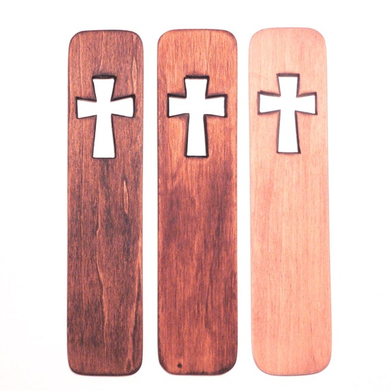 Items Similar To Wooden Cross Bookmark Handcrafted Wood