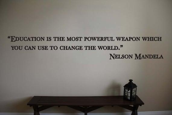 nelson mandela inspirational classroom educational quote vinyl