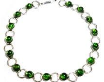 Stunning Russian Chrome Diopside Bracelet 19cm 6g
