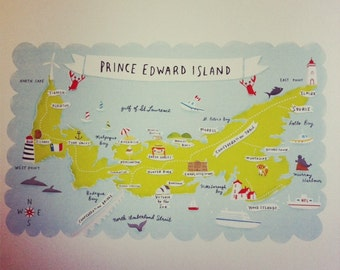 Illustrated Map Of Prince Edward Island