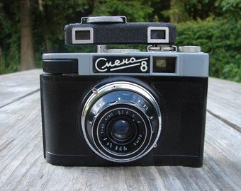 Vintage Russian film camera 35mm Smena 8 With Raingfinder Soviet era 1960s 35mm USSR Camera Industar in Case