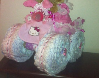Items Similar To Diaper Cake Jeep On Etsy