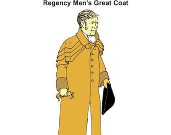 RC818 - Regency Era Men's Great Coat Sewing Pattern by Reconstructing History