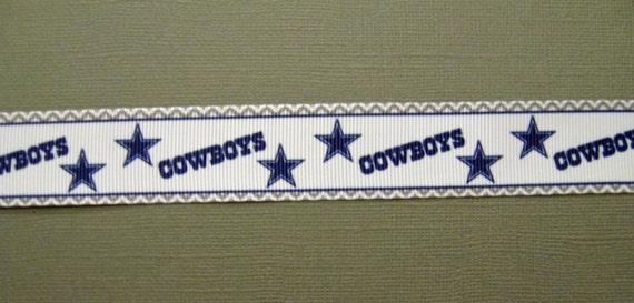Dallas cowboys 1 grosgrain craft ribbon with stars and for Dallas cowboys arts and crafts