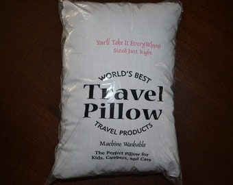 """TRAVEL PILLOW / CHILD Pillow - Fits in My Pillow Cases Perfectly!  Size 11"""" x 15"""""""