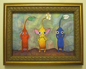 Giclee Fine Art Print - Pikmin: See No Evil, Speak No Evil, Hear No Evil