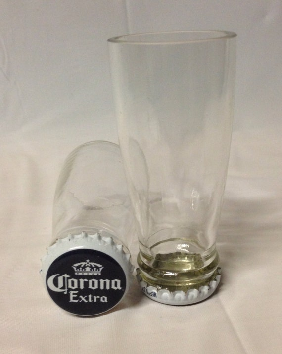 Corona beer bottle shot glasses recycled glass bottles man for How to make corona glasses