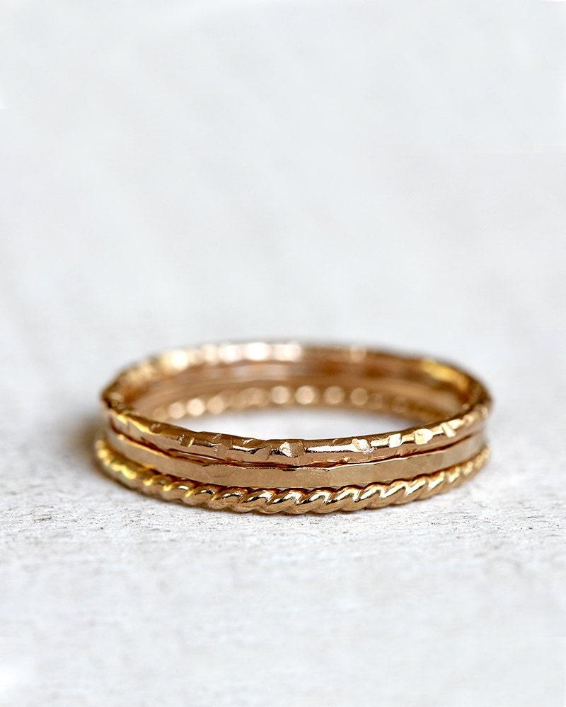 gold stacking rings 14k gold stacking rings. Black Bedroom Furniture Sets. Home Design Ideas