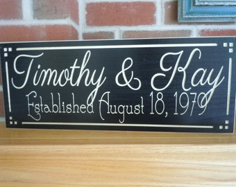Wedding Gift Personalized Wooden Signs Wooded Name Sign Engraved Wood Wedding Signs Last Name Custom Wood Signs Custom Wood Signs Poplar 16