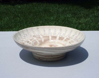 No.82 Stoneware Agate Bowl Incise Carved Accent with Clear Glaze Home Decor Kitchen Gift