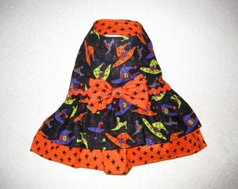 CLEARANCE SALE - Halloween Dog Dress, Pet Dress, Tiny Dog Dress, Halloween Pet Costume